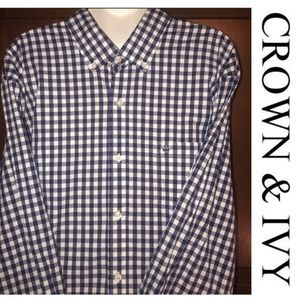 Crown & Ivy Classic Fit Button Down